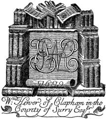 Hewer bookplate 1699