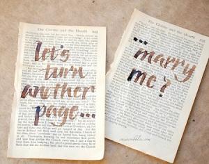 bookish proposal