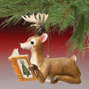 Reading Reindeer Ornament