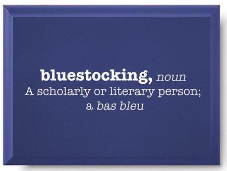 Bluestocking Plaque