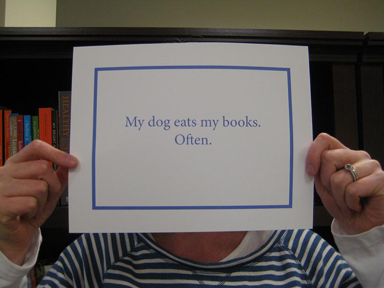 Dog eats books
