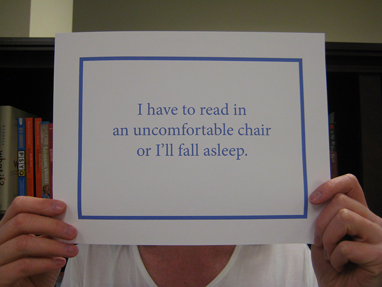 read in chair
