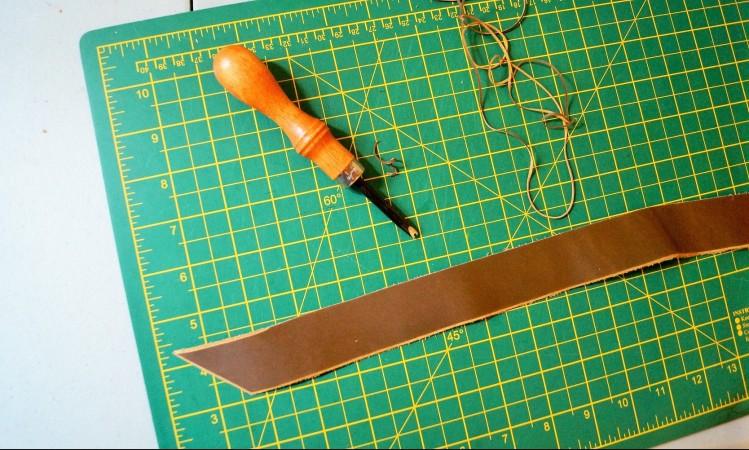 cutting board and awl