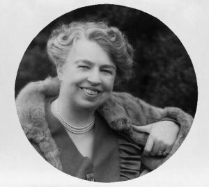 [Eleanor Roosevelt, head-and-shoulders portrait, facing front]. ca. 1945. Image. Retrieved from the Library of Congress